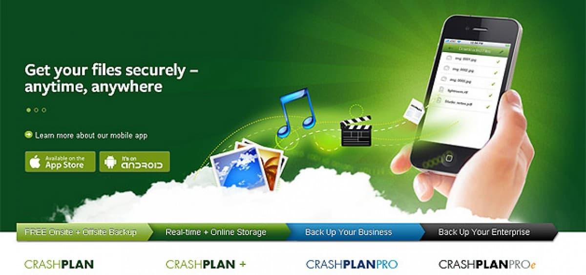 Respaldo en línea de su disco duro: CrashPlan