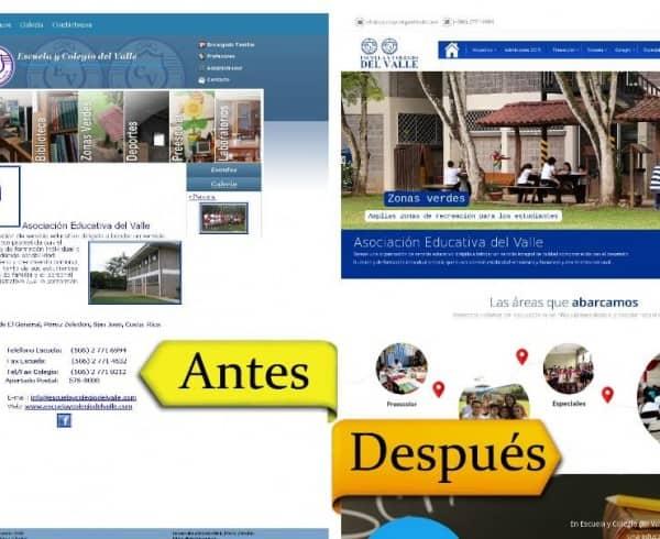 La Escuela y Colegio del Valle se rediseña con ZEWS