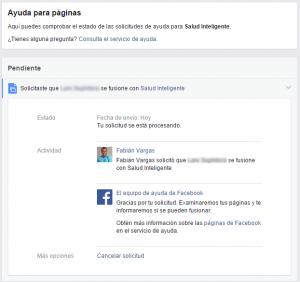 Fusionar páginas de Facebook - paso 5