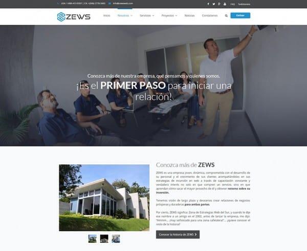 Sitio Zews Web